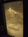 yellow snowy night