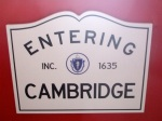 entering cambridge