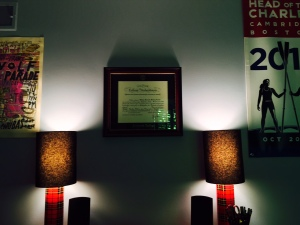 willie diploma wall