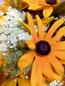 black-eyed susan and queen anne's lace