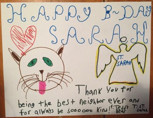 sarah bd card