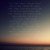holy hour dawn