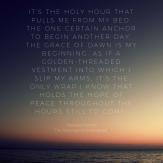 holy hour dawn