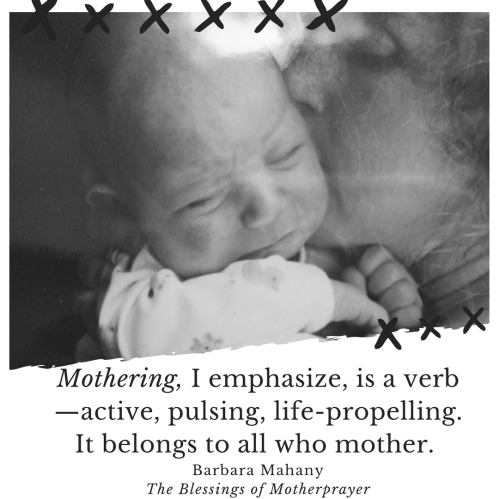 mothering verb