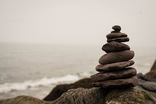 Beach Balance Stone Stacked Nature Meditation
