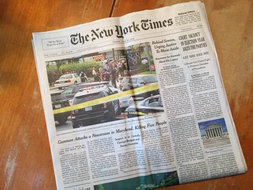 front page NYT