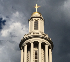 steeple of marquand chapel at yale divinity school